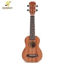 21 inch 15 Frets Rosewood Soprano Ukulele Guitar Uke Sapele Rosewood 4 Strings Guitar For Beginners or Basic Players