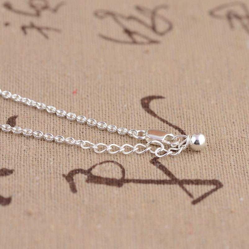 100% réel 925 en argent Sterling bambou feuilles chaîne collier pour femmes filles mode bijoux anniversaire fiançailles cadeau d'anniversaire - 3