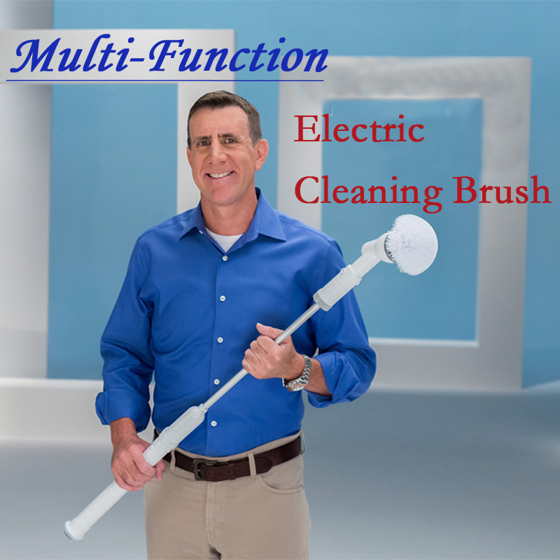 Original Box Electric Turbo Scrub Long Handle Cleaning Brush Multi function Wireless Charging Brush Household Cleaning Tools