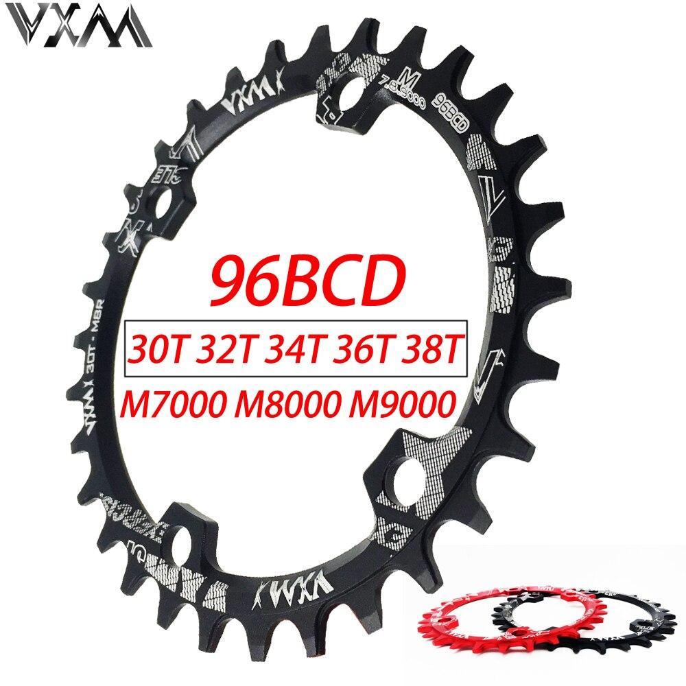 VXM 30 t 32 t 34 t 36 t 38 t 96BCD En Aluminium Alliage Ovale Rond Plateau Pédalier Route Vélo plateau pour M7000 M8000 M9000