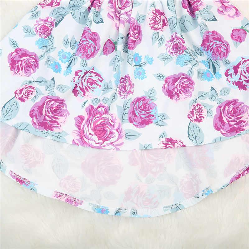 Милые Обувь для девочек подходящая друг к другу Одежда для младенцев для маленьких девочек маленькая старшая сестра оборками Цветок комплекты одежды комбинезон Платья для женщин повязка лето