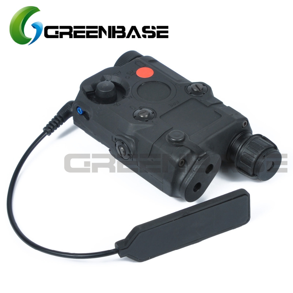 Greenbase Tactical Military PEQ 15 Airsoft Scout Light White Light Red Laser Light Laser Combo Strobe