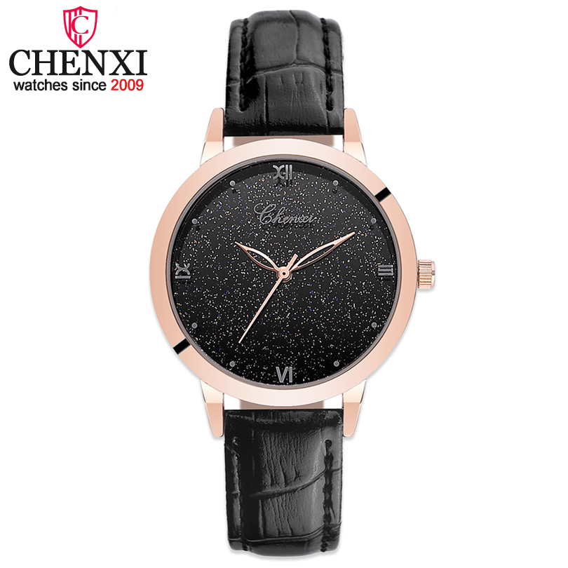 CHENXI New Fashion Wrist Watches Women Watch Ladies Luxury brand Quartz-watch Leather sport Lady Wristwatches Relogio Feminino 2017 new fashion tai chi cat watch casual leather women wristwatches quartz watch relogio feminino gift drop shipping