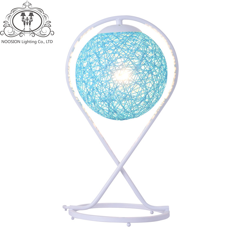 NOOSION Art Deco Table Lamp for Home Living Rattan Art Ball Table Light LED Loft Lights Fixtures Moderna Lampen Luminaire deco home вешалка