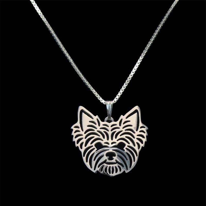 Женский Йоркширский кулон в форме терьера ожерелья для влюбленных сплав собака ожерелья Прямая поставка