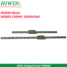 Free Shipping  HIWIN  MGN9H mini MGN9 Slider Block  with 250mm 350mm   MGNR9C Linear Guide Rail 9 mm MGN Guides  for 3d printer