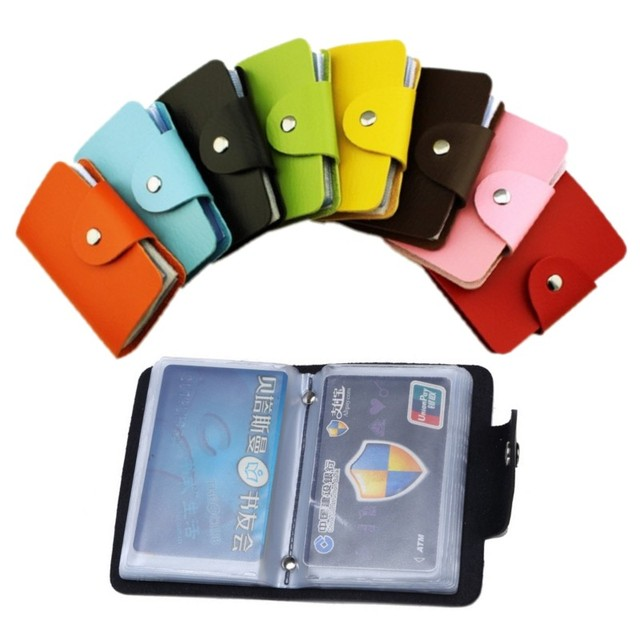 24 card slots 2sided plastic card holder size small multicolor 24 card slots 2sided plastic card holder size small multicolor business card pack bus card bag reheart Choice Image