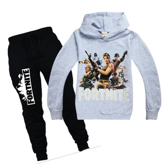 Children Hot Game Fortnight Print T-shirt Boy Girls hoodie Tops Costume For Kids Clothing Baby boys spring autumn clothes batman 2