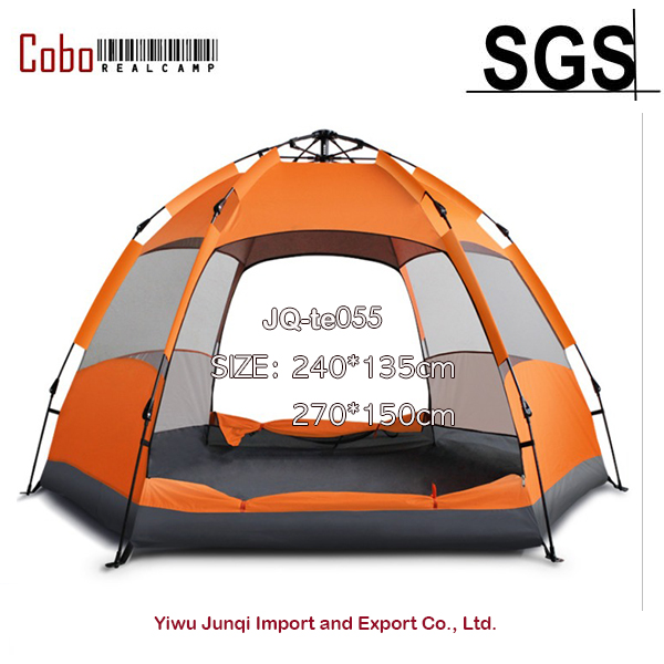 5-7 Person Automatic Tent Double Layer Outdoor Waterproof Camping Hiking Hexagon outdoor camping hiking automatic camping tent 4person double layer family tent sun shelter gazebo beach tent awning tourist tent