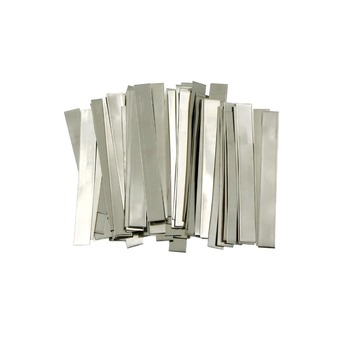 Sunkko 0.15 x 6 x 50 mm Pure Nickel Strip Soldering Tab for Battery Welding 50 Pcs lot