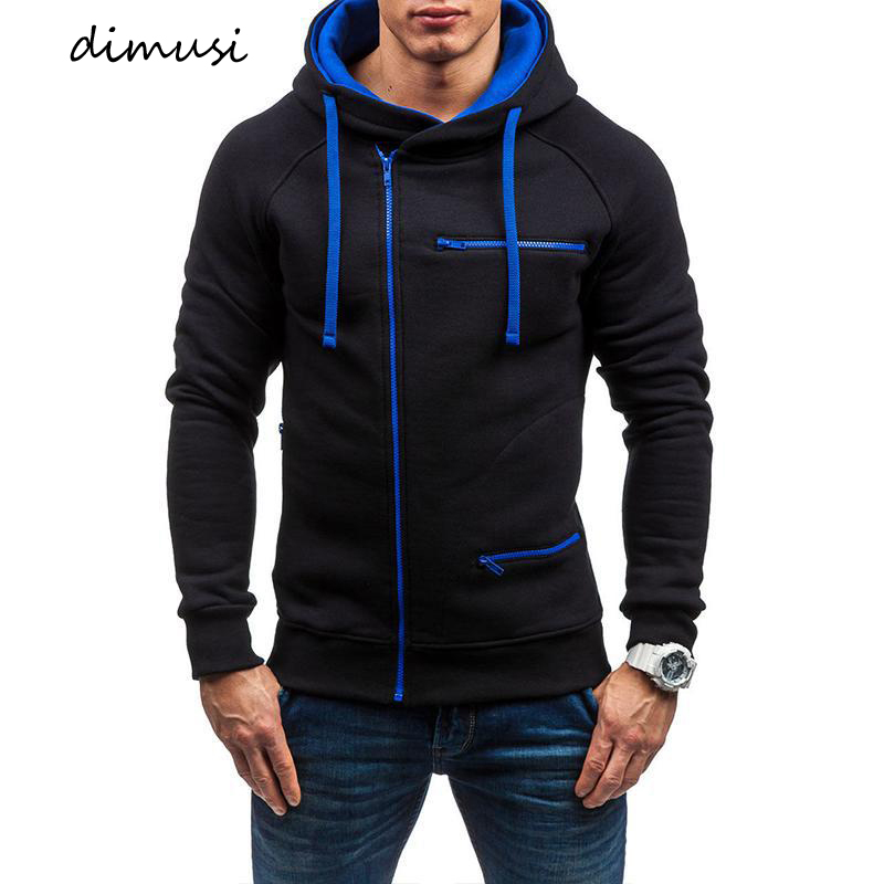 DIMUSI Mens Hoodies Fashion Mens Slim Hooded Sweatshirt Coats Mens Streetwear Hip Hop Hoodies Sportswear Tracksuit Clothing