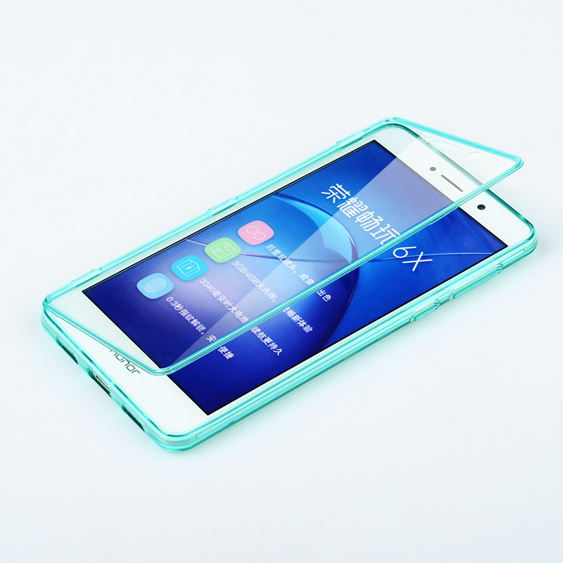 separation shoes 299f4 cc187 Huawei Honor 6X Case Silicone Flip High Quality 100% Transparent ...