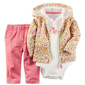 2017 novos conjuntos de roupas crianças flor dourada bebê bebes ropa bebes nomes de bebês bonitos para meninos e meninas de roupas recém-nascidos
