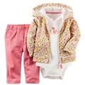 Sistemas de la ropa 2017 nuevos niños de la ropa de la flor de oro del bebé bebes bebes lindos nombres de los bebés para niños y niñas ropa de recién nacido
