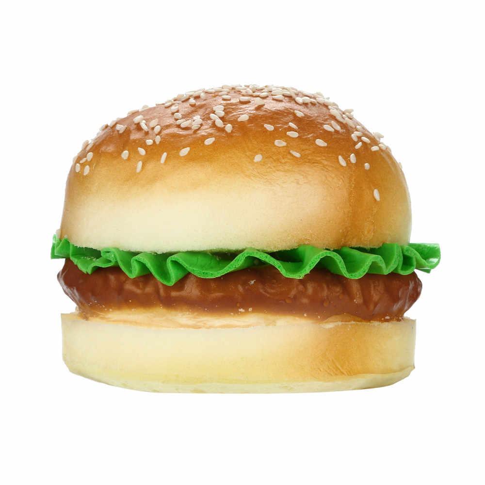 2019 HOT! Sezamu z hamburgerami pachnące Squishies powolne rośnie zabawki dla dzieci zabawka antystresowa Drop Shipping Jan18