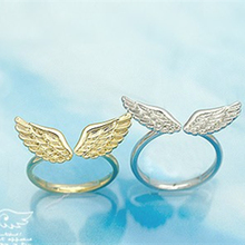 NZ16 Fashion Jewelry Gold Color Angel Wings Finger Ring Adjustable Silver Color Ring Women Korean Style Accessories Wholesale