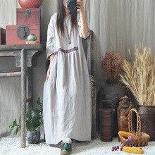 Женское Свободное платье с рукавом три четверти, винтажное платье, женские свободные ретро платья