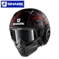 Шлем Акула Мотоцикл обувь для мужчин и женщин четыре сезона Ретро Локомотив Анти туман половина шлем личности прохладно для harley шлемы