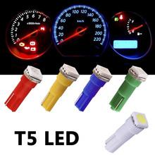 1pcs T5 74 White 1 SMD 5050 Dashboard Wedge LED Light Bulb Lamp led car bulbs interior Lights reading light parking bulbs 12V cheap TOAUTO Reading Lights 100lm Universal T5 LED t5 bulb Instrument Lights