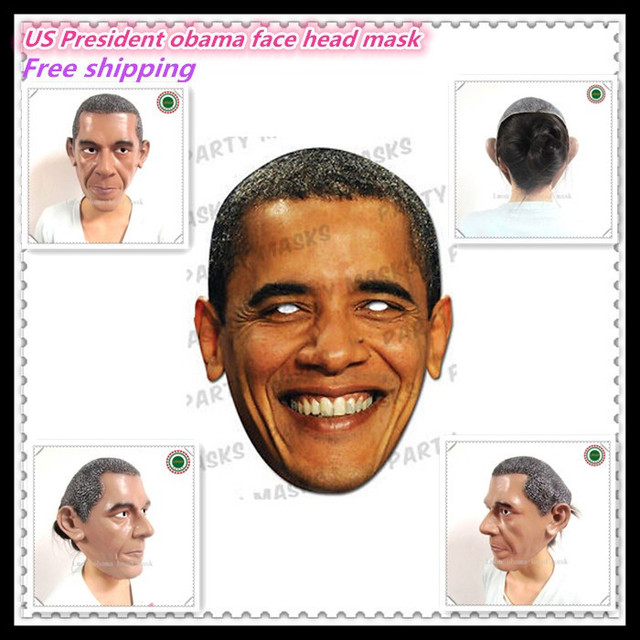 Halloween Party Cosplay Grim Face US President Obama Head Mask Latex Creepy Costume Party Cosplay Costume  sc 1 st  AliExpress.com & Halloween Party Cosplay Grim Face US President Obama Head Mask Latex ...