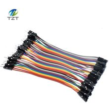 1lot =40pcs 10cm 2.54mm 1pin 1p-1p male to female jumper wire Dupont cable for arduino