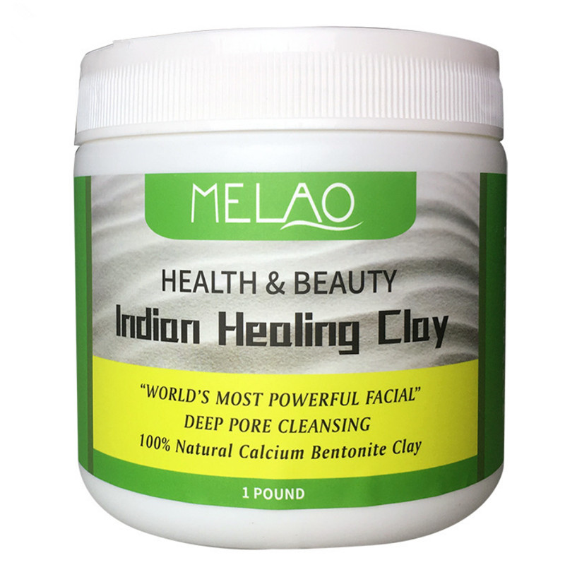 MELAO Indian Healing Bentonite Detox Clay 100% Natural Powder Face Body Deep Pore Cleansing Improves Rashes And Skin Conditions
