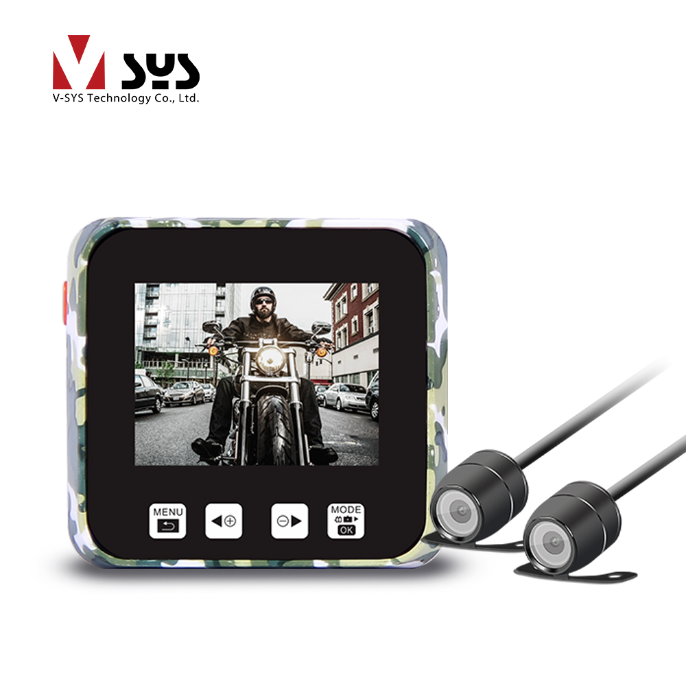 Vsys M6 2CH WiFi Motorcycle Dashcam DVR Front Full HD 1080P 720P Rear View Lens Action