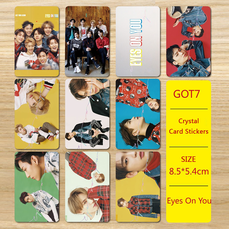 Youpop Kpop Got7 Eyes On You Album Photocard Photo Version For Student Card Bus Pvc Crystal Card Stickers My023 Rich In Poetic And Pictorial Splendor Jewelry & Accessories