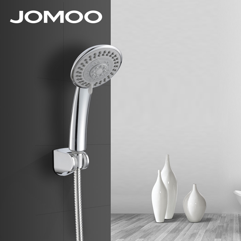 JOMOO Shower Head Set ABS Watering Can 1.5m Bathroom Shower Hose Hand Shower Ducha Chuveiro Showerhead 5 jets 4 inch jomoo 4 inch 3 jet bathroom shower head chrome hand shower with wall bracket stainless steel hose ducha chuveiro water saving