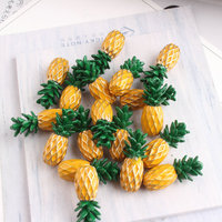 Wholesale 60PCs 9*22MM 3D Fruit Pinapple Enamel Alloy Charms DIY Jewelry Findings Ornament Accessories Necklace Floating Pendant