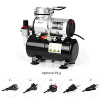 KKmoon Professional Airbrush Compressor Oil less Quiet High pressure Pump Tattoo Manicure Spraying Air Compressor Tank