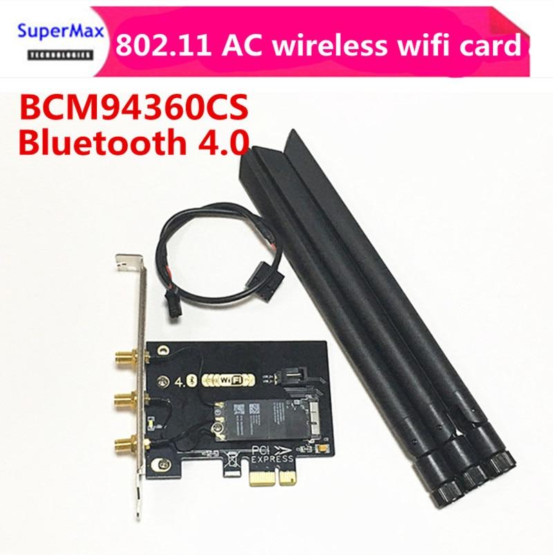 Free Shipping Dual Band 802 11 AC wireless wifi card BCM94360CS Interface Card Type PCI E