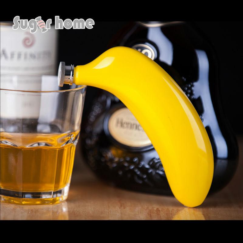 Mealivos Obst 5 unze Edelstahl Flachmann banana wein pot Flask für Alkohol Flasche wodka Whisky flasche groomsmen geschenke
