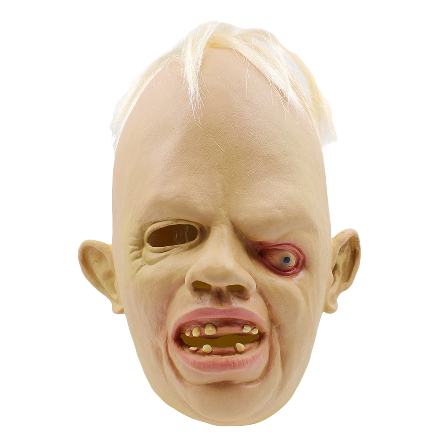69cfd9d2 Besegad Horrible Ugly Rubber Disgusted Deformed One Eye Monster Full Face  Mask Halloween Mask Cosplay Party Costume Accessories-in Gags & Practical  Jokes ...