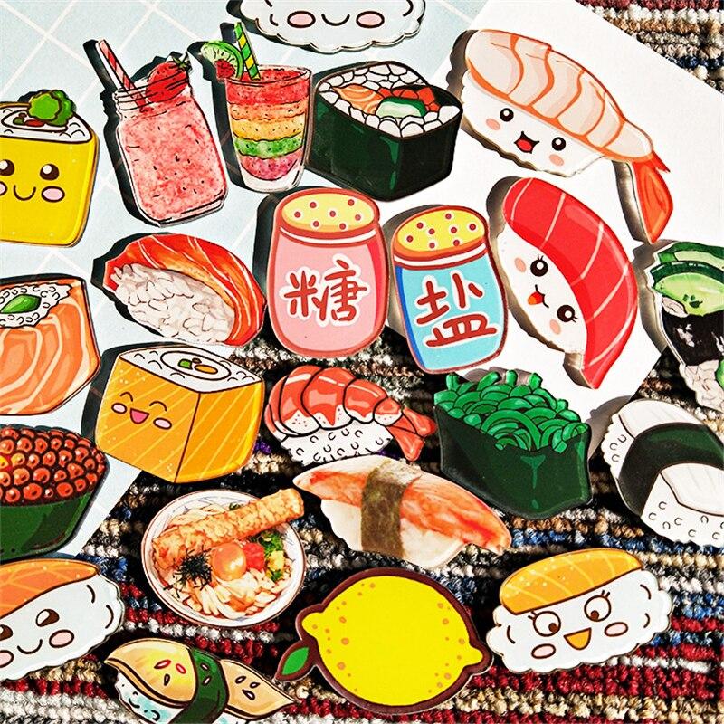 R1231 27 De Desconto10 Pçs Maxisin Acrílico Dos Desenhos Animados Comida Sushi Frutas ícones Em Emblemas Em Um Pino Kawaii ícone Emblema Pino Na