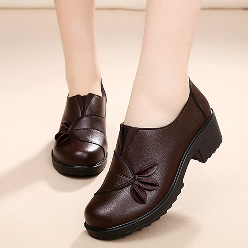 ФОТО Ankle Boots For Women Autumn Winter Mom Shoes Middle Heel Winter Shoes Women sy-2150