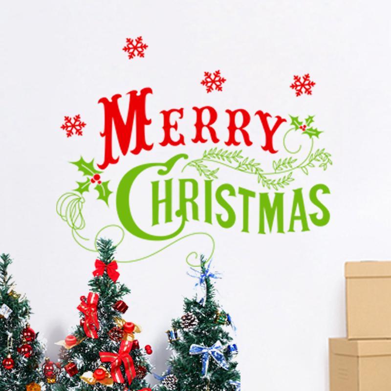 Frohe weihnachten schneeflocken wandaufkleber christian room home ...