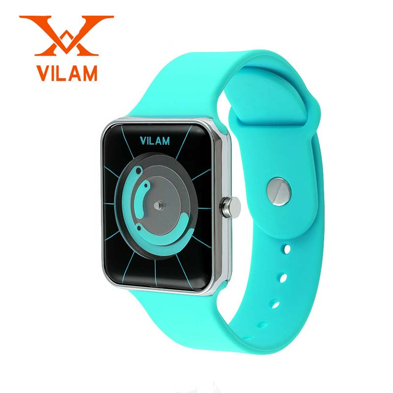 Sports LED Digital Women Watch fashion watches mens Waterproof VILAM Fashion popular Watch popular black skull sports watch silicone bands touch screen led watch women mens free shipping gitt for lovers couple