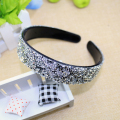 New Fashion Sparkly Wide Silver Rhinestone Headband Hairband Crystal Hair Accessories Wedding Hair Jewelry For Women