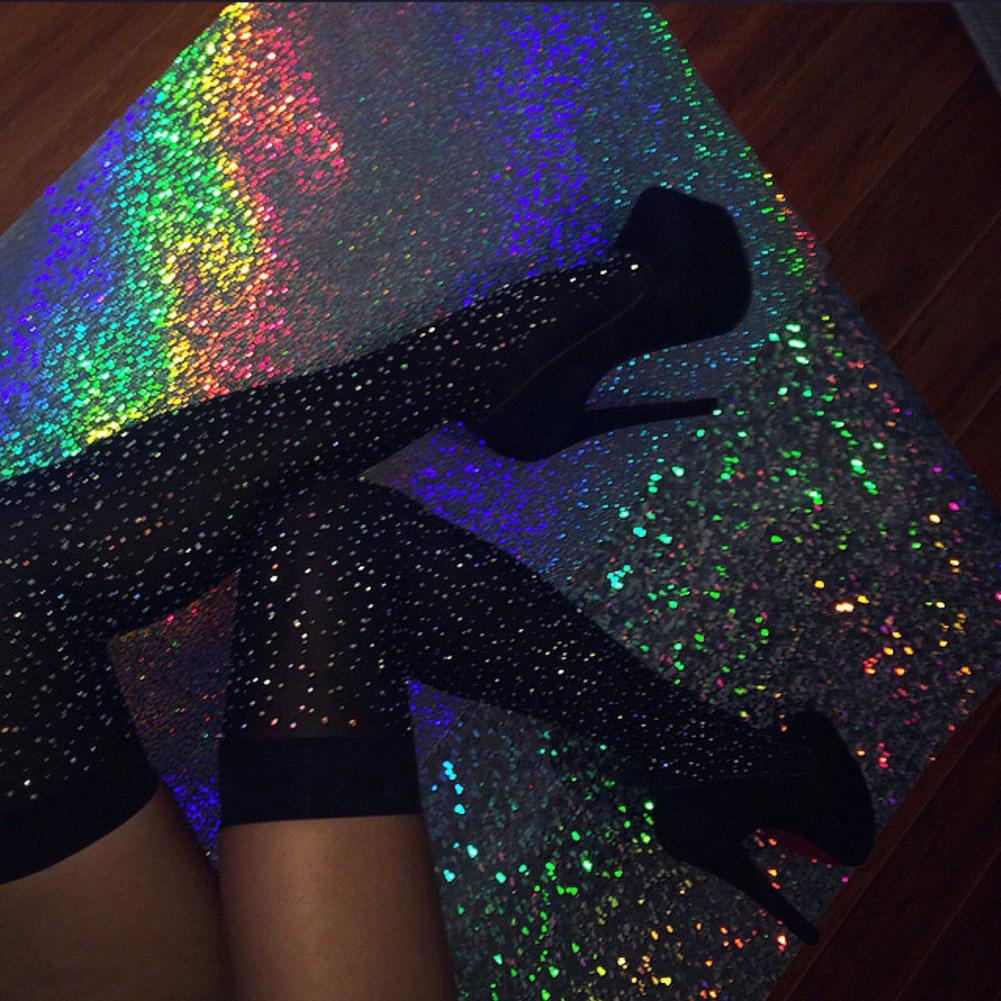Sexy Striped Hot Fix Rhinestone Women Over The Knee Socks Thigh High Stockings New