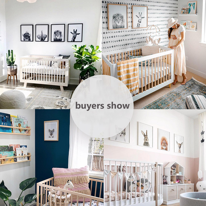 Us 2 88 49 Off Bunny Rabbit Print Nursery Wall Art Woodland Decor Baby Animal Prints Canvas Painting Nordic Posters Pictures For Kids Room In