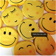 SLPF Sell Well Childlike Classic Cute Yellow Smiley Coin Purse Bag Ladies Kawaii Harajuku Plush Toys Pendant Girl Gift M01