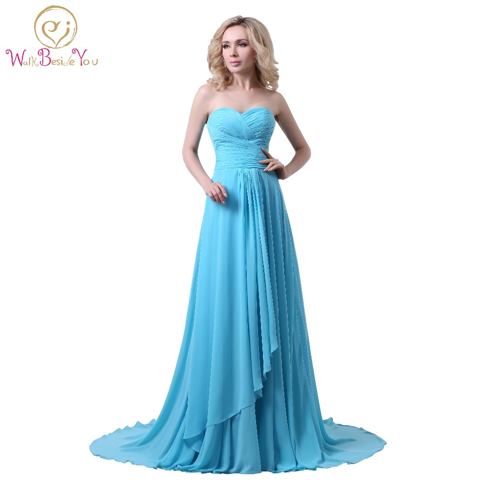 Online Buy Wholesale sweetheart blue prom dress from China ...