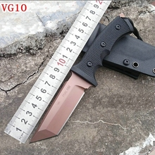 2016 The new VG10 Treeman microterrorism matrix straight knife outdoor folding camping survival pack mail