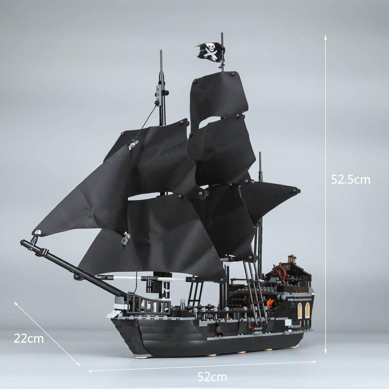 16006 New Pirates of the Caribbean Boat The Black Pearl Compatible With 4184 Model Sets Kids