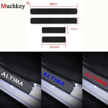 цена на Welcome Pedal For Nissan Altima 2007 2008 2009 2010 2011 Door Threshold Plate Car Door Sill Scuff Plate Car Accessories 4Pcs