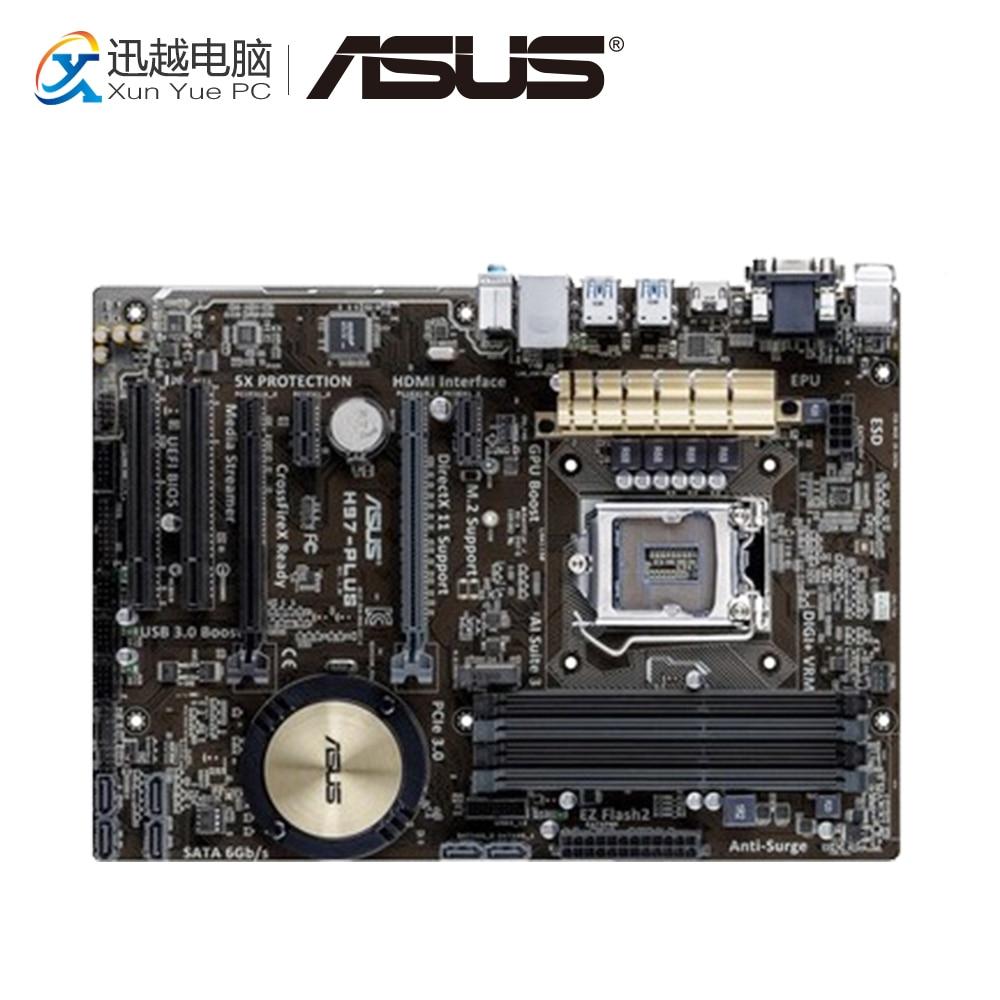 Asus H97-PLUS Desktop Motherboard H97 Socket LGA 1150 i7 i5 i3 DDR3 32G SATA3 UBS3.0 ATX цена 2017