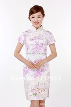 Shanghai Story new style Stand up collar short cheongsam evening dress china traditional dress dress Qipao 4 color