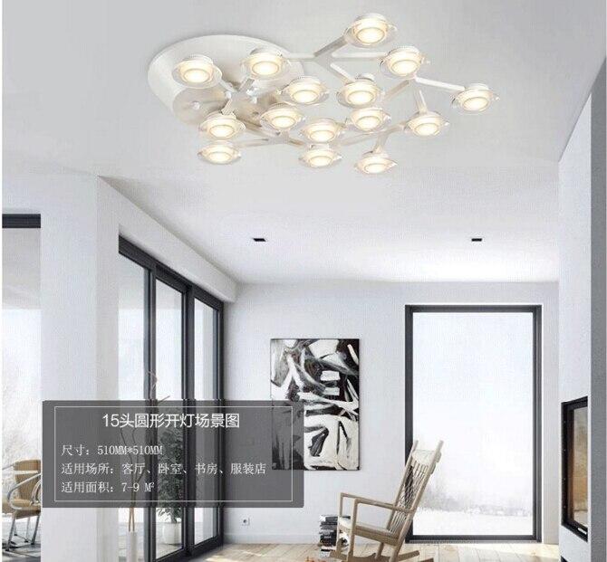 Modern led luzes de teto luminárias para sala de estar quarto lâmpada com material é de Alumínio lâmpada do teto de acrílico - 2