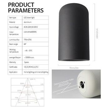 AIsilan Klassische Nordic Stil LED Downlight Oberfläche Montiert Decke Lampen Für Wohnzimmer Schlafzimmer Flur Küche AC85-260V